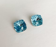 Квадраты (Fancy Stone) Swarovski 4460, цвет - Aquamarine, 10 мм