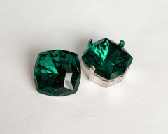 Квадраты (Fancy Stone) Swarovski 4460, цвет - Emerald, 14 мм